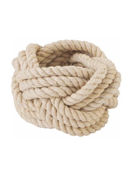 Obrączka na serwetkę Sail, 6 szt., Lina, Beżowy, Ø 5 x W 4 cm