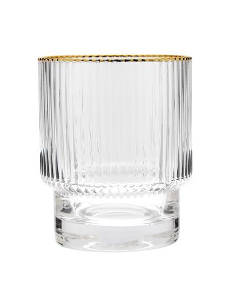 Ręcznie wykonana szklanka Minna, 4 szt., Szkło dmuchane, Transparentny, Ø 8 x W 10 cm
