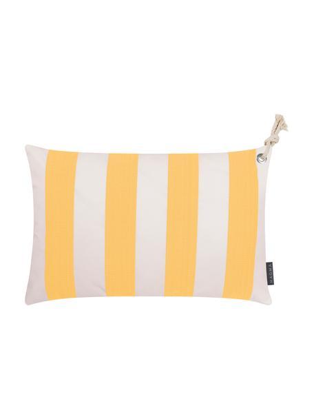 Zewnętrzna poszewka na poduszkę Santorin, 100% polipropylen, Teflon® powlekany, Żółty, biały, S 40 x D 60 cm