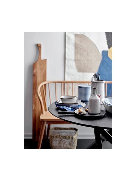 Plato hondo artesanal Sandrine, Gres, Tonos beige, Ø 22 x Al 5cm
