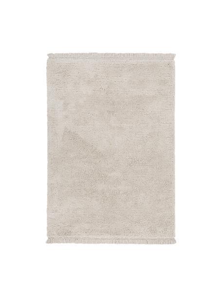 Tappeto morbido a pelo lungo Dreamy, Retro: 100% cotone, Crema, Larg. 120 x Lung. 180 cm (taglia S)