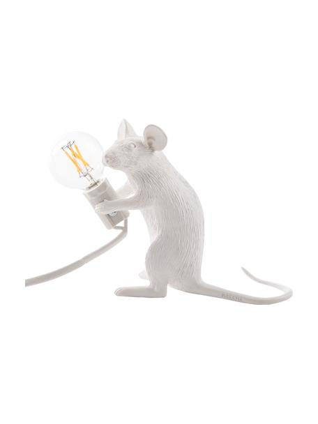 Lampa stołowa Mouse, Biały, S 5 x W 13 cm