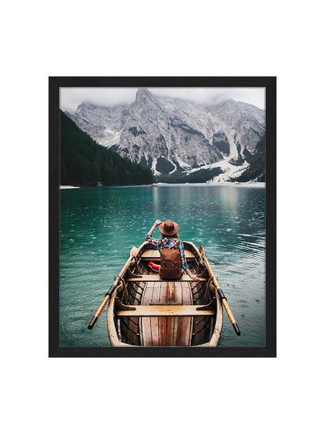 Gerahmter Digitaldruck Sailing, Bild: Digitaldruck auf Papier, , Rahmen: Holz, lackiert, Front: Plexiglas, Mehrfarbig, 43 x 53 cm