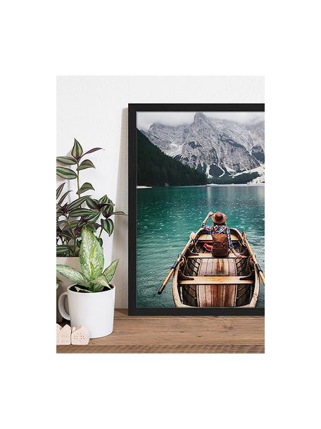 Ingelijste digitale print Sailing, Afbeelding: digitale print op papier,, Lijst: gelakt hout, Multicolour, 43 x 53 cm