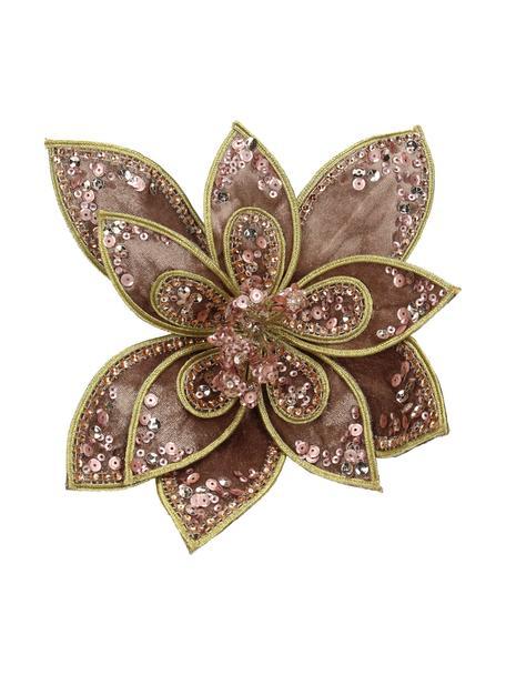 Adorno navideño Flower, Palo rosa, dorado, An 20 x Al 20 cm
