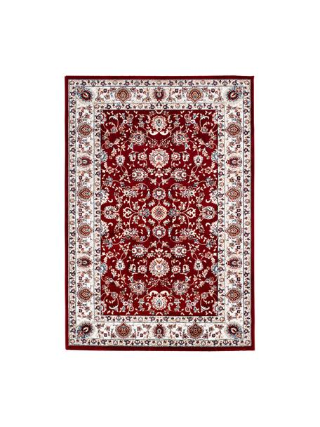 Gemusterter Teppich Isfahan in Rot im Orient Style, 100% Polyester, Rot, Mehrfarbig, B 80 x L 150 cm (Größe XS)
