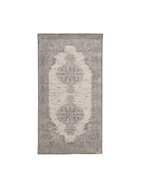 Alfombra Elegant, estilo vintage, Parte superior: 100%nylon, Reverso: 100%algodón, Gris, An 80 x L 150 cm (Tamaño XS)