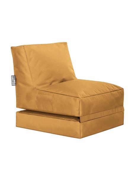 Outdoor loungefauteuil Pop Up met ligfunctie, Bekleding: 100% polyester Binnenzijd, Mosterdgeel, 70 x 90 cm