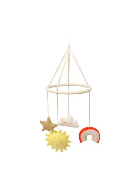 Babymobile Happy Weather aus Bio-Baumwolle, Beige, Mehrfarbig, Ø 19 x H 86 cm