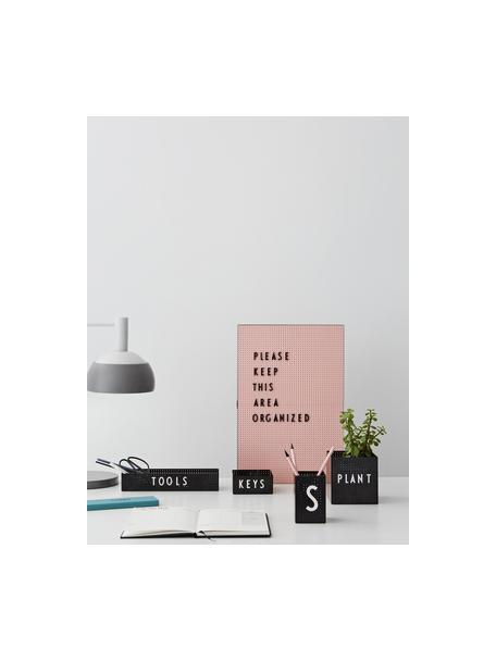 Büro-Organizer Smart, Stahl, lackiert, Schwarz, 25 x 5 cm