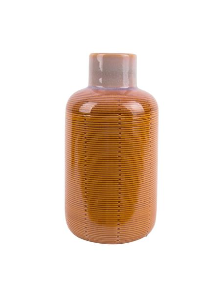 Jarrón de cerámica Bottle, Cerámica, Naranja, Ø 12 x Al 23 cm