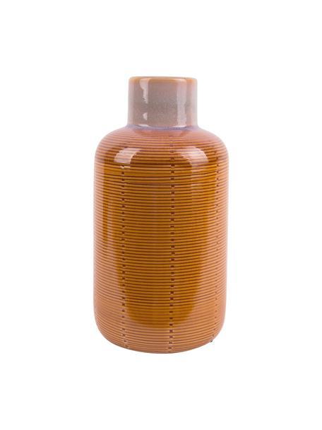 Vaso decorativo in ceramica Bottle, Ceramica, Arancione, Ø 12 x Alt. 23 cm