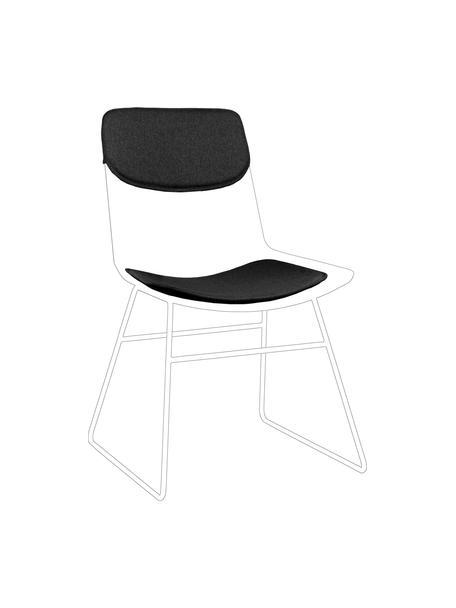 Zitkussen sset voor metalen stoel Wire, 2-delig, Donkergrijs, Verschillende formaten