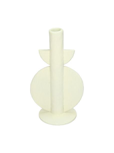 Świecznik Aztec, Poliresing, Biały, S 13 x W 22 cm