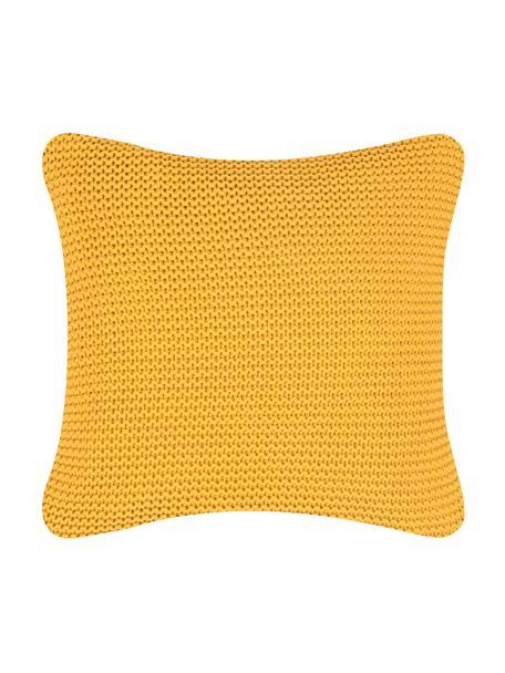 Poszewka na poduszkę z dzianiny Adalyn, 100% bawełna, Musztardowy, S 40 x D 40 cm