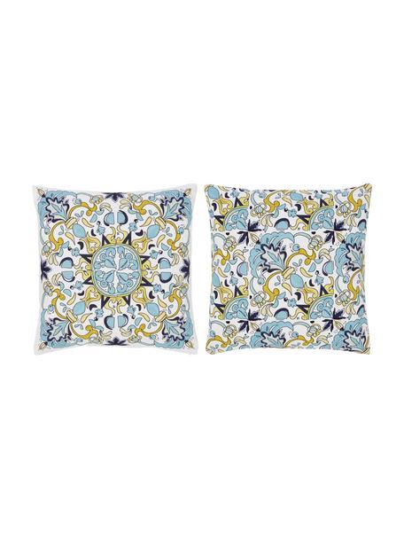 Kussenhoezenset met patroon Evora, 2-delig, 100% katoen, Multicolour, 40 x 40 cm