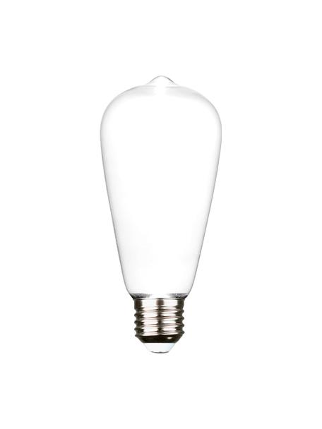 E27 Leuchtmittel Ghost, 2.5W, warmweiss, 1 Stück, Leuchtmittelschirm: Glas, Leuchtmittelfassung: Aluminium, Weiss, Aluminium, Ø 6 x H 15 cm