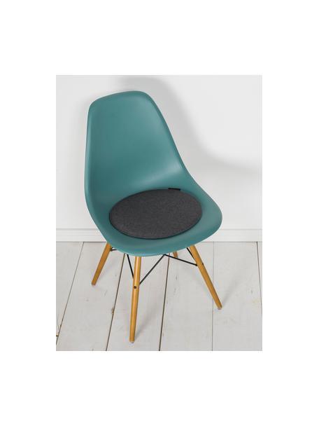 Okrągła poduszka na krzesło z filcu Avaro, 4 szt., Antracytowy, Ø 35 x W 1 cm