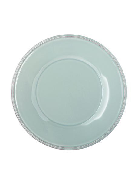 Piattino da dessert verde menta Constance 2 pz, Gres, Blu, turchese, Ø 24 cm
