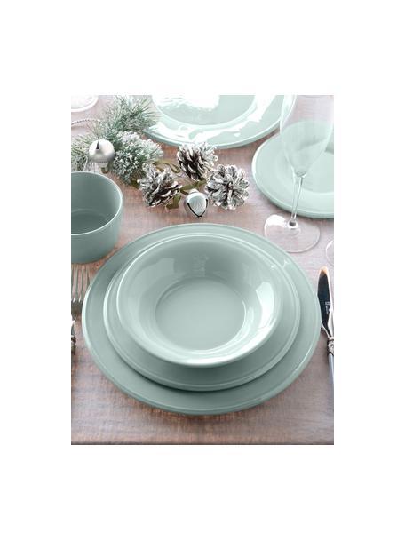 Ontbijtborden Constance, 2 stuks, Keramiek, Blauw, turquoise, Ø 24 cm