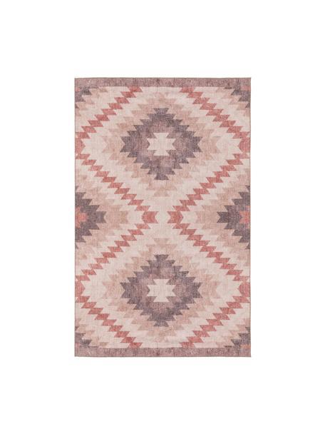 Dwustronny dywan kilim Ana Diamonds, 80% poliester 20% bawełna, Brudny różowy, wielobarwny, S 115 x D 170 cm (Rozmiar S)