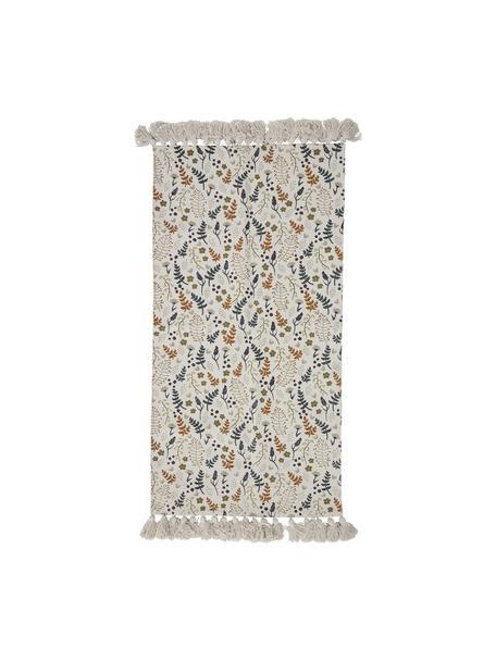 Alfombra de algodón con borlas Filipa, 100%algodón, Beige, multicolor, An 65 x L 120 cm (Tamaño XS)