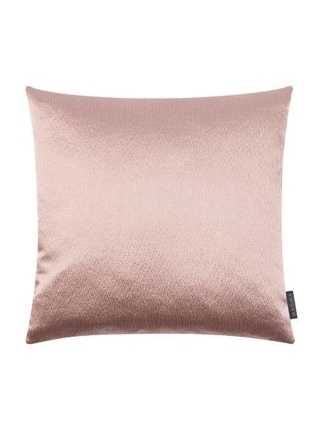 Połyskująca poszewka na poduszkę Nilay, 56% bawełna, 44% poliester, Blady różowy, S 40 x D 40 cm