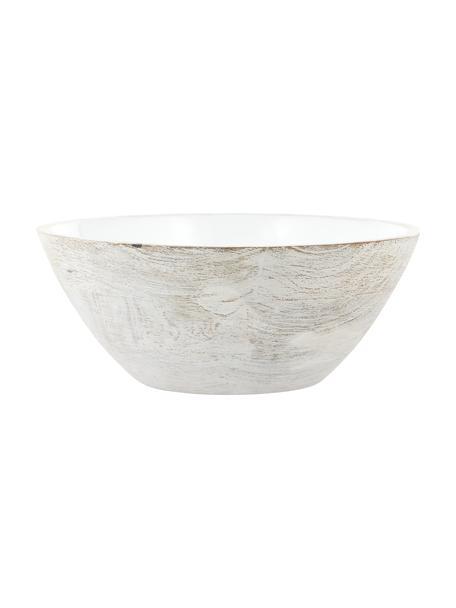 Kom Lugo van mangohout Ø 30, binnenzijde gecoat, Mangohout, Mangohoutkleurig, wit, Ø 30 x H 13 cm