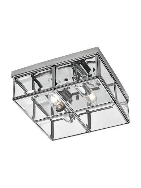 Plafón pequeño Ben, Pantalla: vidrio, Cromo, transparente, An 26 x Al 10 cm