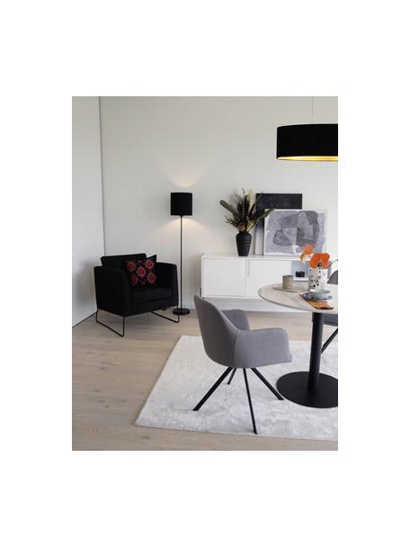 Moderne vloerlamp Harry in zwart, Lampenkap: textiel, Lampvoet: gepoedercoat metaal, Zwart, Ø 28 x H 158 cm