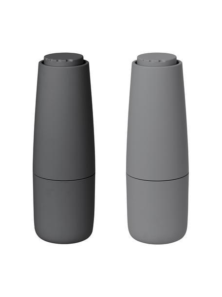 Salz- und Pfeffermühle Salpi in Grau, Deckel: Kunststoff, Mahlwerk: Keramik, Grau, Dunkelgrau, Ø 7 x H 20 cm