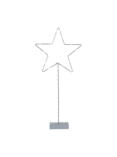 Pieza luminosa LED Star, funciona a pilas, Lámpara: metal, Cable: plástico, Gris, An 19 x Al 43 cm