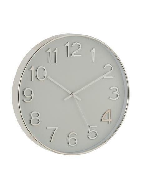 Reloj de pared Arabic, Plástico, Plateado, Ø 40 cm