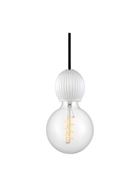 Mała lampa wisząca ze szkła Chris, Biały opalowy, Ø 8 x W 9 cm