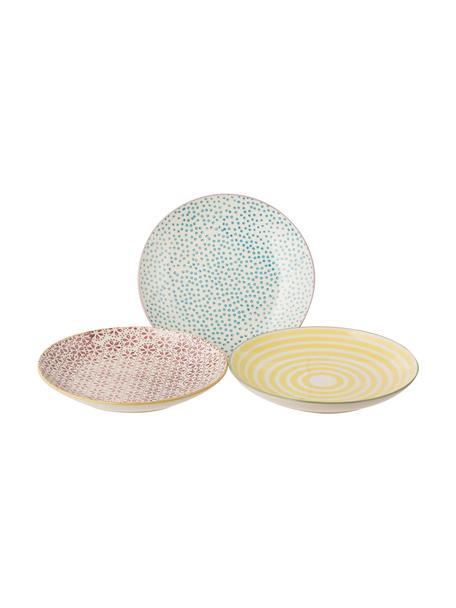 Set 3 piatti per pane dipinti a mano Patrizia, Gres, Multicolore, Ø 16 cm