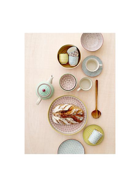 Ontbijtbordenset Holly, 3-delig, Keramiek, Multicolour, Ø 16 cm
