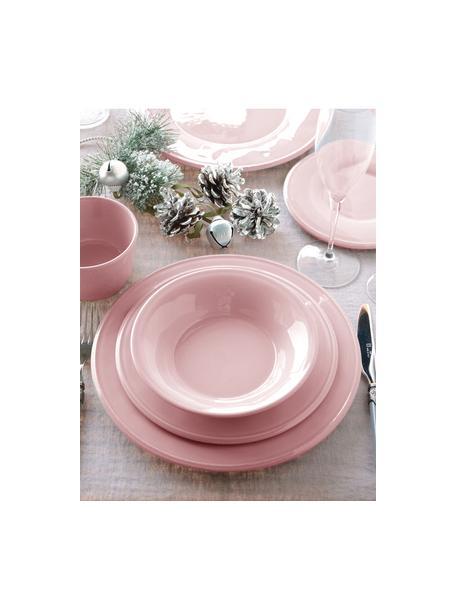 Piatto fondo rosa Constance 2 pz, Gres, Rosa, Ø 27 cm