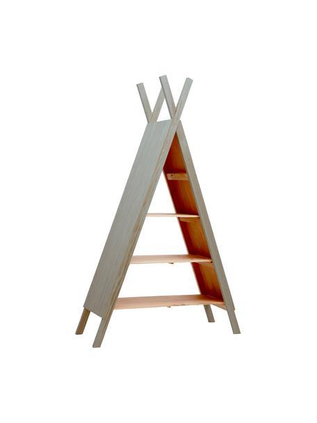 Regał Helio, Drewno sosnowe, powlekane, Szary, drewno sosnowe, S 96 x W 172 cm