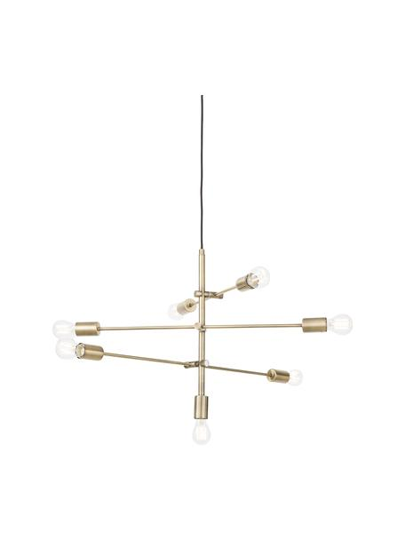 Lámpara de techo Visby, Estructura: metal latón, Anclaje: metal latón, Cable: cubierto en tela, Latón, Ø 84 cm