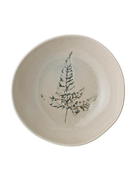 Ciotola fatta a mano con motivo erba Bea, Gres, Beige, multicolore, Ø 21 x Alt. 6 cm