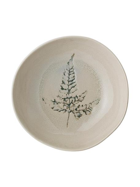 Handgemachte Schale Bea mit Gräser-Motiv, Steingut, Beige, Mehrfarbig, Ø 21 x H 6 cm