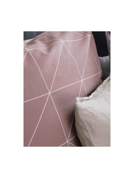 Dwustronna poszewka na poduszkę z bawełny Marla, 2 szt., Mauve, biały, S 40 x D 80 cm