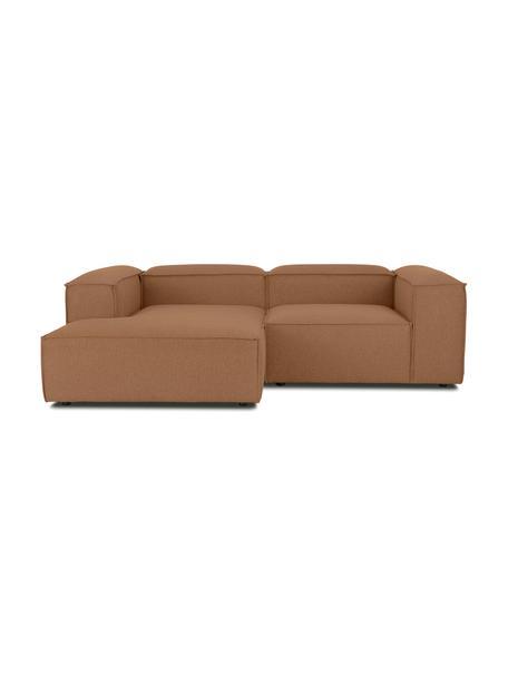Narożna sofa modułowa Lennon, Tapicerka: 100% poliester Dzięki tka, Stelaż: lite drewno sosnowe, skle, Nogi: tworzywo sztuczne Nogi zn, Nugat, S 238 x G 180 cm