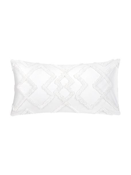 Poszewka na poduszkę z perkalu z tuftowaną dekoracją  Faith, 2 szt., Biały, S 40 x D 80 cm