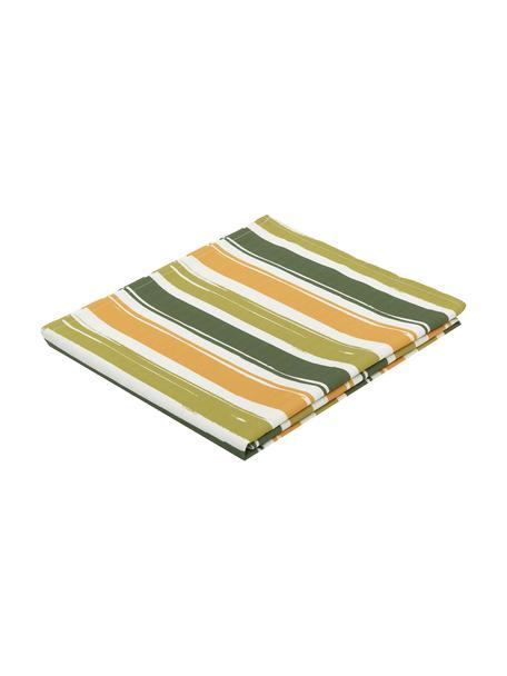 Mantel Greca antimanchas de teflón, 100%poliéster con revestimiento de teflón, Verde, mostaza, Para 2 comesales (An 135 x L 100 cm)