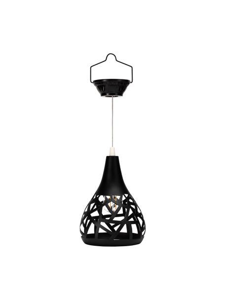 Solar Hängelampe Sunshine Magic, Lampenschirm: Metall, Baldachin: Kunststoff, Schwarz, Ø 15 x H 44 cm