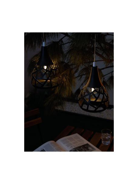Solar hanglamp Magic, Lampenkap: metaal, Baldakijn: kunststof, Zwart, Ø 15 x H 44 cm