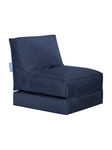 Sillón de jardín Pop Up, reclinable, Tapizado: 100%poliéster Interior c, Azul vaquero, An 70 x F 90 cm