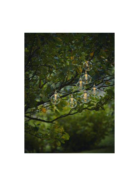 Guirnalda solar de luces Chania, 245cm, 8 luces, Linternas: plástico, Cable: plástico, Transparente, plateado, L 245 cm