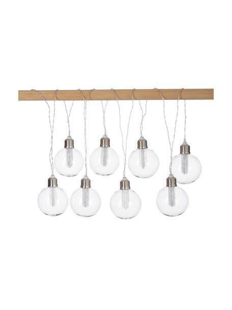 Solar Lichterkette Chania, 245 cm, 8 Lampions, Lampions: Kunststoff, Transparent, Silberfarben, L 245 cm